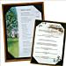 Luxe houten menubord English style