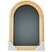 Wandkrijtbord Securit, Rondo, 50x35cm, Blank gelakt