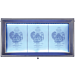 Securit Menukast hamerslag, Grijs, 3x A4, 72x40x9 cm