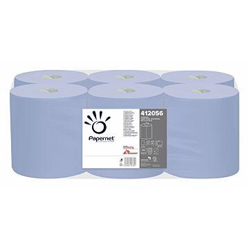Poetsrol Papernet midi 2lgs recycled blauw breed 20cmx135mtr, 6x1 rollen