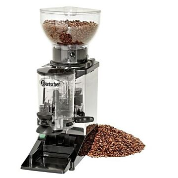 Koffiemolen Bartscher, 5-12gr dosering, RVS, 1KG, 17(b)x51(h)x39(d), 230V/275W