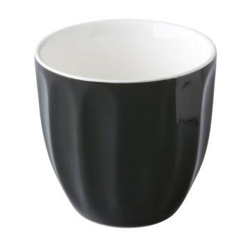 Coffeepoint stapelbare koffiekop zwart 180 ml, doos van 6 stuks