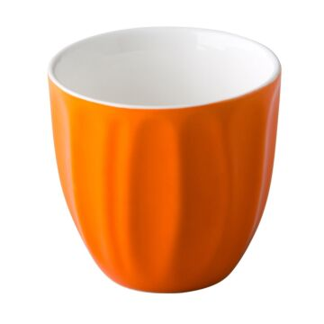 Coffeepoint stapelbare koffiekop oranje 180 ml, doos van 6 stuks