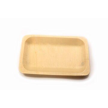 Schaaltje hout rechthoekig (FSC), 200 x 120 mm, 12x50 per doos