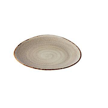 Jersey bord driehoek grijs 21 cm, doos van 6 stuks