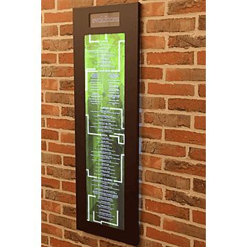 Menukast Titanium 3x A4 met Logo raam