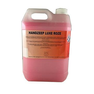 Zuiver handzeep luxe roze 5ltr kan, 2x5 liter