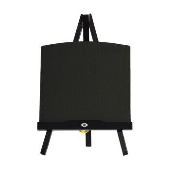 Krijtbord Tripod tafelmodel eikenhout zwart, Montrer