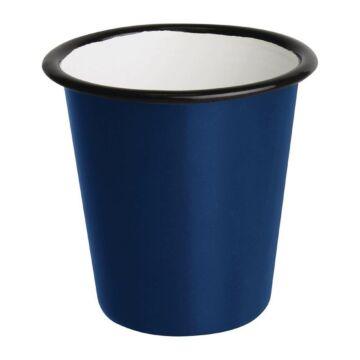 Olympia Emaille beker blauw 31cl, 6 stuks
