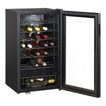 Wijnklimaatkast m/glas 95L., H84 x B47 x L48, 230V / 136W