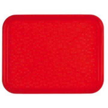Dienblad 34,5x26,5cm Polypropyleen rood, Roltex