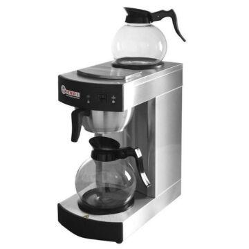 Koffiezetapparaat 1,8 Liter, Incl. 2 Glazen Kannen, 2100W, 200x385x(H)430mm