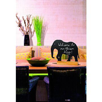 Tafelkrijtbord Securit, Olifant, hout, incl. 1 krijtstift dun wit
