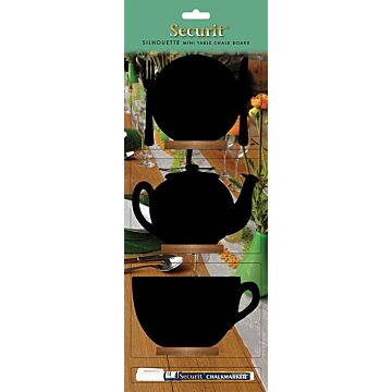 Tafelkrijtbordjes Securit, mini, mix van 3, incl. 1 krijtstift dun wit