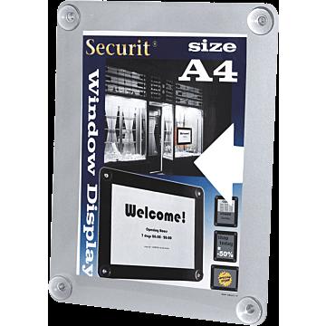 Raamdisplay Securit, A4, Grijs