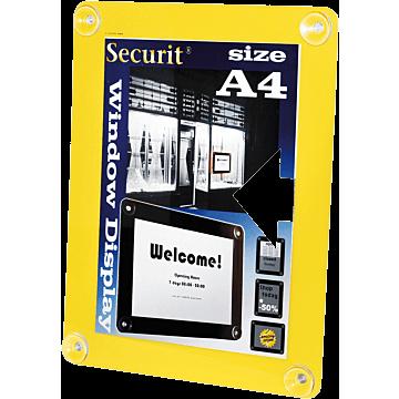 Raamdisplay Securit, A4, Geel