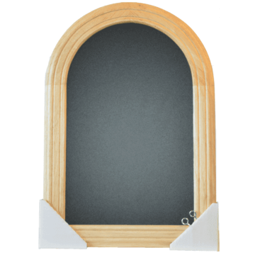Wandkrijtbord Securit, Rondo, 105x60cm, Blank gelakt