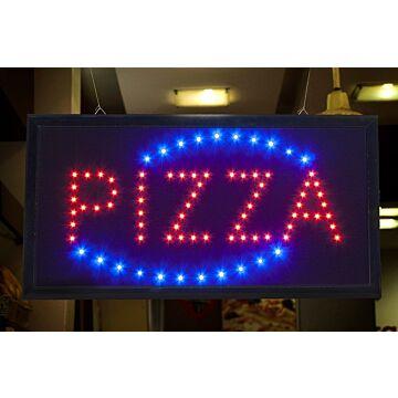 Lichtreclame bord PIZZA, Securit