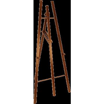 Securit ezel voor krijtbord,Donker Bruin, 165 cm