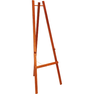 Securit ezel voor krijtbord, Mahonie, 165 cm