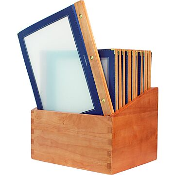 Menubox Securit A4, Woodrange, Blauw incl 20 menukaarten