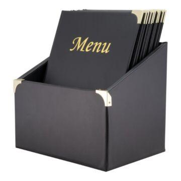 Menubox Securit, Basic Range A4 zwart, inclusief 10 menukaarten