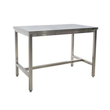 RVS Werktafel Saro, zonder onderblad, extra stevig, 70(B)x60(D)x85(H)cm
