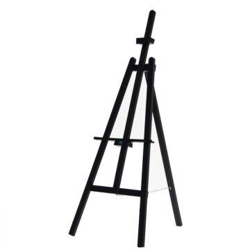 Krijtbord Ezel Chevalet zwart 165 cm