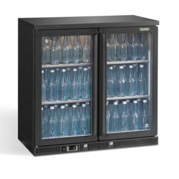 Flessenkoeling 2-Deurs, Antraciet, Gamko LG3/250 Maxiglass, 250L, Klapdeuren, 900x536x850mm