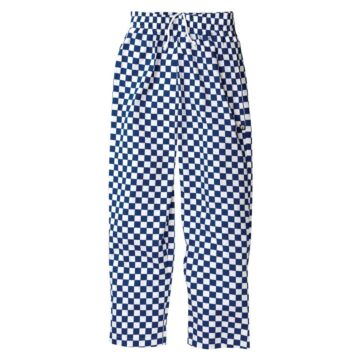 Chef Works Easyfit broek Geruit Blauw/Wit (100% Ktn)