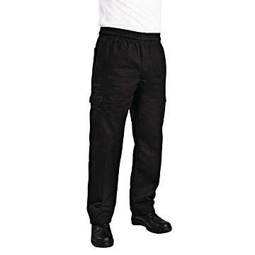 Chef Works unisex slim fit cargo broek zwart