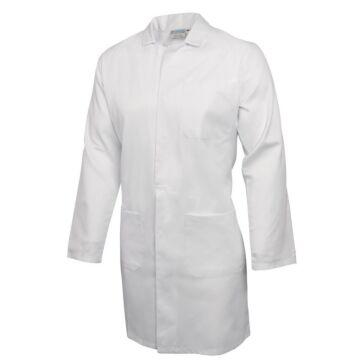 Koksbuis Whites Chefs, Werkjas, lange mouw, wit, poly/ktn, unisex, rugsplit, traditioneel