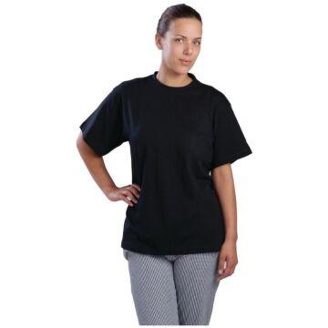 T-shirt zwart unisex, maat L t/m XL
