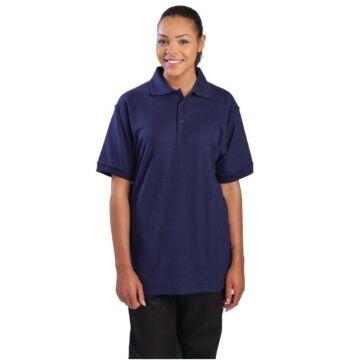 Poloshirt donkerblauw, maat S t/m XL