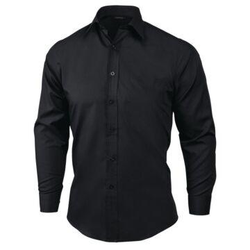 UniformWorks Heren Overhemd, Zwart (Poly/Ktn.)