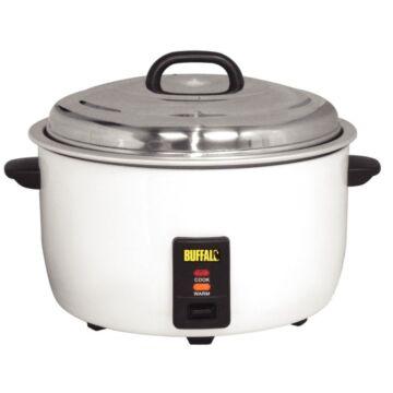 Rijstkoker Buffalo, 10L droge rijst/ 23L gekookte rijst, 230V/2,95kW, incl lepel