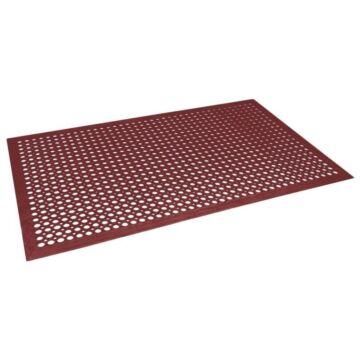 Antivermoeidheidsmat Jantex, gevoerd, rood, 12(h)x150(b)x90(d)cm