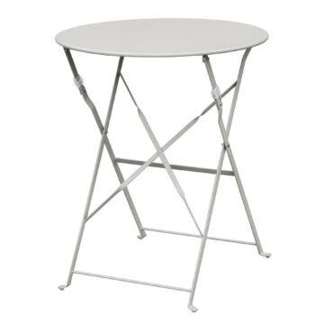 Inklapbare stalen tafel Bolero, weerbestendig, grijs, 71(h)x59,5cm