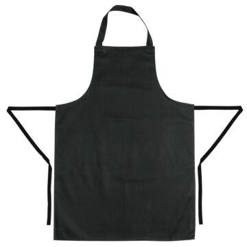 Schort Whites Chefs Clothing, halterschort, zwart, lang, zonder zak, poly/ktn, 97x71cm