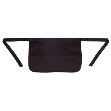 Schort Whites Chefs Clothing, geldschort, zwart, universeel, met zak, poly/ktn, 31x45cm