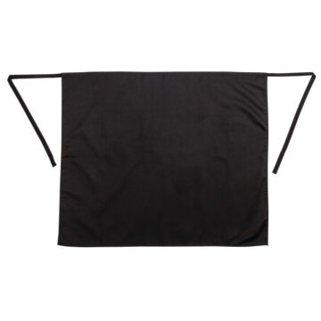 Sloof Whites Chefs Clothing, standaard, zwart, lang, met zak, poly/ktn, 76x92cm