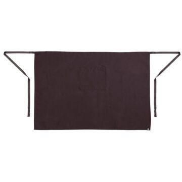 Sloof Whites Chefs Clothing, bistro,  zwart, lang, met zak, poly/ktn, 70x100cm