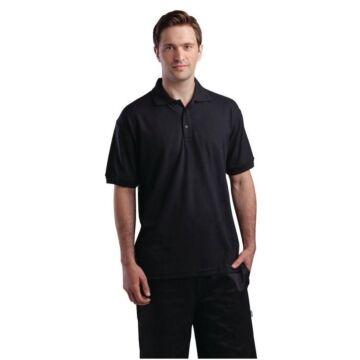 Poloshirt zwart, maat S t/m XL