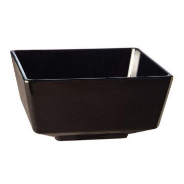 Float melamine vierkante kom zwart 5,5cm