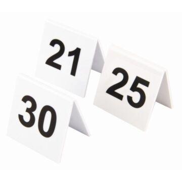 Tafelnummers Olympia, set 21-30