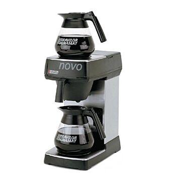 Koffiezetapparaat Bravilor, 144kop/uur, inc 1 kan, 2x1.7L, 21(b)x43(h)x34(d), 230V/2100W
