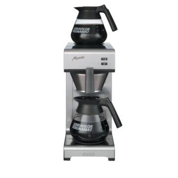 Koffiezetapparaat Bravilor, 144kop/uur, inc 2 kannen, 2x1.7L, 22(b)x62(h)x36(d), 230V/2100W