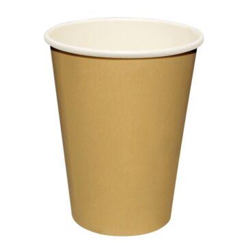Hot cup enkelwandig Kraft lichtbruin 24cl (Box 50)