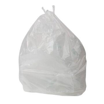Jantex standaard kwaliteit transparante afvalzakken 100ltr, 200 stuks
