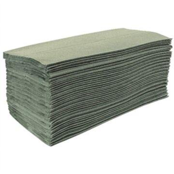 Handdoeken Jantex, groen, Z-gevouwen, 1-laags, 15 stuks, dispenser zie: GD839
